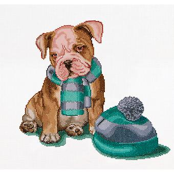 It's Cold Outside On Aida Counted Cross Stitch Kit 12 1 4