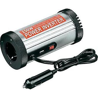 Inverter Goobay 67921 150 W 12 Vdc Can-shaped (fits into cup holder) Cigarette lighter plug PG socket, USB port