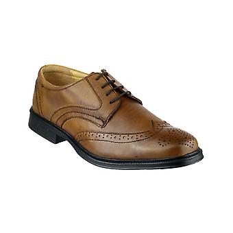 Cotswold Mickleton Lace Up Gibson Shoe Black