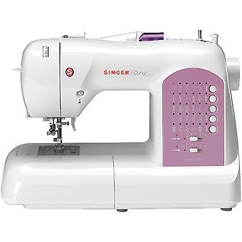 Singer Curvy Sewing Machine-White W/Pink Accents 8763.CL