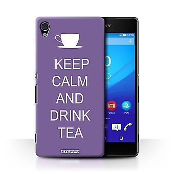 STUFF4 Case/Cover for Sony Xperia Z4v/E6508/Drink Tea/Purple/Keep Calm