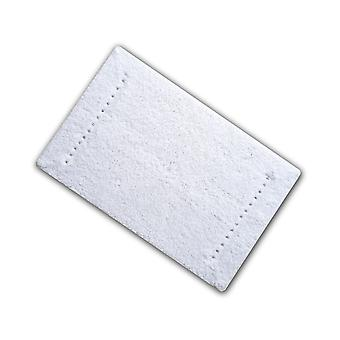 Diamante White Cotton Single Bath Mat 50 x 80cm