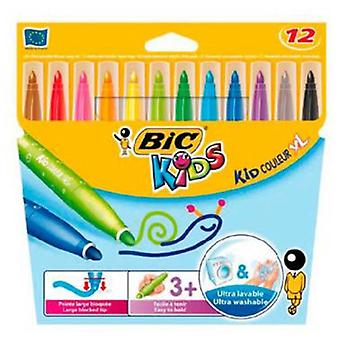 Bic Visa case 12 Highlighters Kids Xl (Toys , School Zone , Drawing And Color)