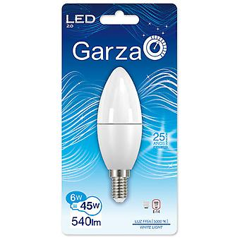 Garza Led Candle E14 6W 540LM 240th 50K (Home , Lighting , Light bulbs and pipes)