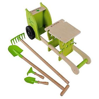 EverEarth Trolley With Garden Tools (Outdoor , Garden Toys , Tables And Chairs)