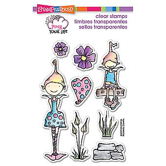 Stampendous Pink Your Life Perfectly Clear Stamps 4
