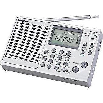International Short Wave Sangean KW, AM, FM Battery charger Silver