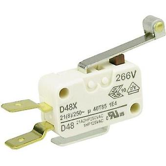 Microswitch 250 Vac 21 A 1 x On/(On) Cherry Switches D489-V3RD momentary 1 pc(s)
