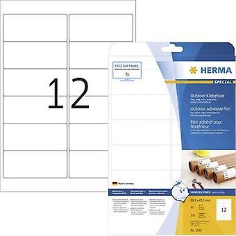 Herma 9533 Labels (A4) 99.1 x 42.3 mm PE film White 120 pc(s) Permanent All-purpose labels, Weatherproof labels Laser, C