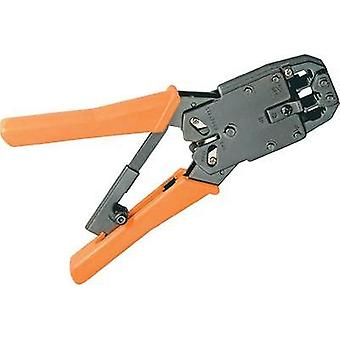 Metal crimping pliers for RJ10/RJ11/RJ12/RJ45 modular plugs, cable cutters, wire strippers