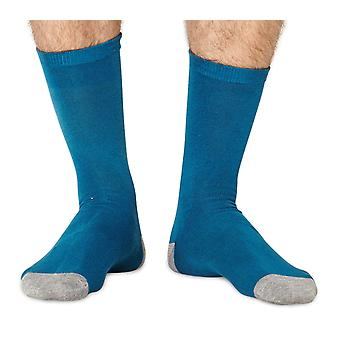 Solid Jack men's super-soft plain bamboo crew socks in blue | By Braintree