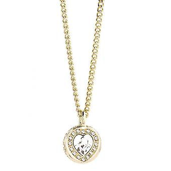 Guess ladies chain necklace stainless steel gold UBN21534