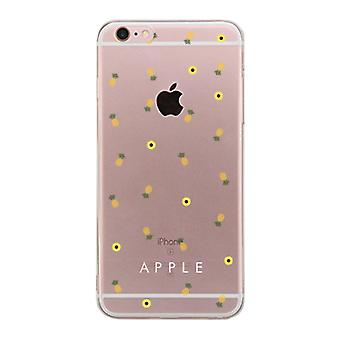 Apple iPhone 6 6S Plus Transparent BFF Phone Cover (Pineapple Pattern - Apple)