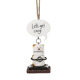 Toasted Smores Lets Get Cozy Christmas Holiday Ornament