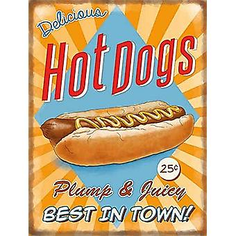 Hot Dogs small steel sign 200mm x 150mm (og)