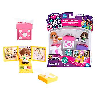 Cife Cajita Pack 3 GiftEms (Toys , Dolls And Accesories , Miniature Toys , Sets)