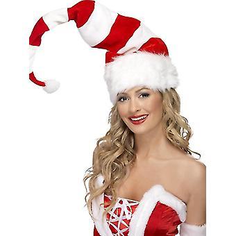 Papa Noel enorme elfos Nikolaus Santa gorro rayas patrón