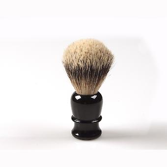 Shaving brush, hand turned, black plastic handle Direct from France