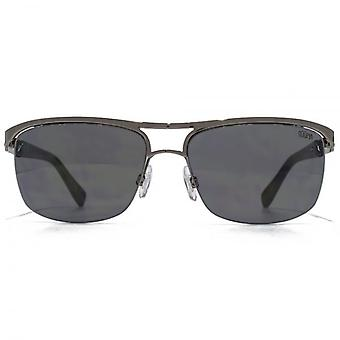 SUUNA Berlin Semi Rimless Metal Sunglasses In Gunmetal
