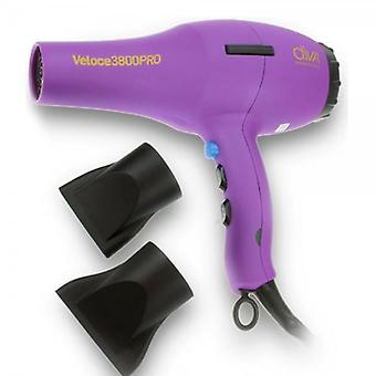 Diva Professional Styling Diva Veloce 3800 Rubberised Hairdryer – Purple
