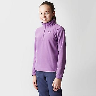 Purple Peter Storm Girls' Coniston II Half Zip Fleece
