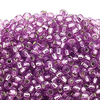 Toho Toho Seed Beads 6/0 - Silver Lined Light Grape - 10g