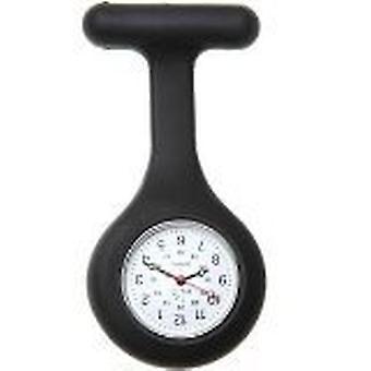 Brand New Fashion Silicone Nurses Brooch Tunic Fob Watch by Boolavard TM. (18 - Black)