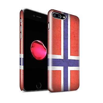 STUFF4 Gloss Hard Back Snap-On Phone Case for Apple iPhone 7 Plus / Norway/Norwegian Design / European Flag Collection