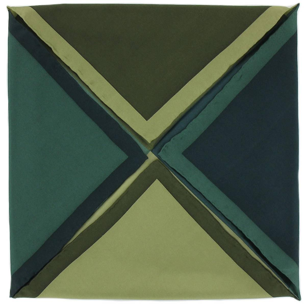 Michelsons of London Four Way Silk Handkerchief - Green