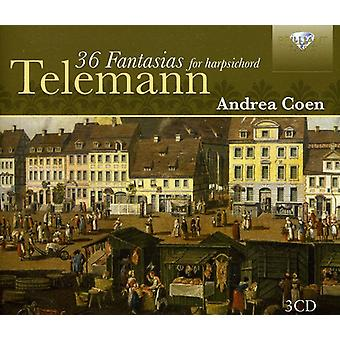 G.P. Telemann - Telemann: 36 fantasier för cembalo [CD] USA import