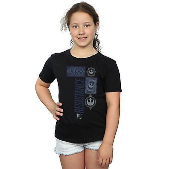 Star Wars Girls die letzten Jedi Widerstand T-Shirt