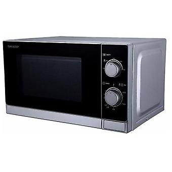 Sharp Microwave 20L, Mechanical Control, 800W, Silver