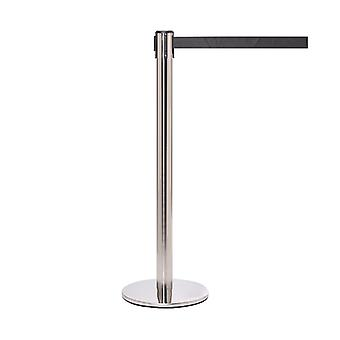 Pro Stainless Steel Retractable Barrier - 3.4m Black Belt