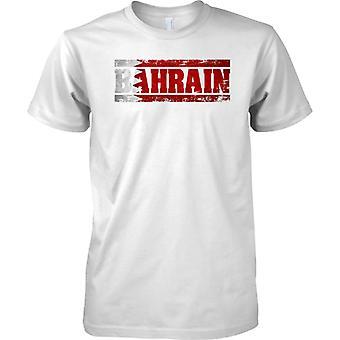 Bahrain Grunge landet navn flagget effekt - Mens T-skjorte