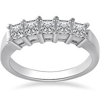1ct Princess Cut Natural Diamond Wedding Anniversary Ring
