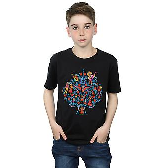 Disney Boys Coco Tree Pattern T-Shirt