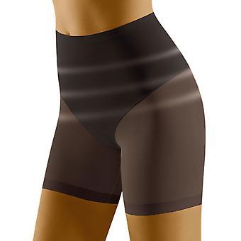 Wolbar Women's Relaxa Black Shaping High Waist Long Leg Brief