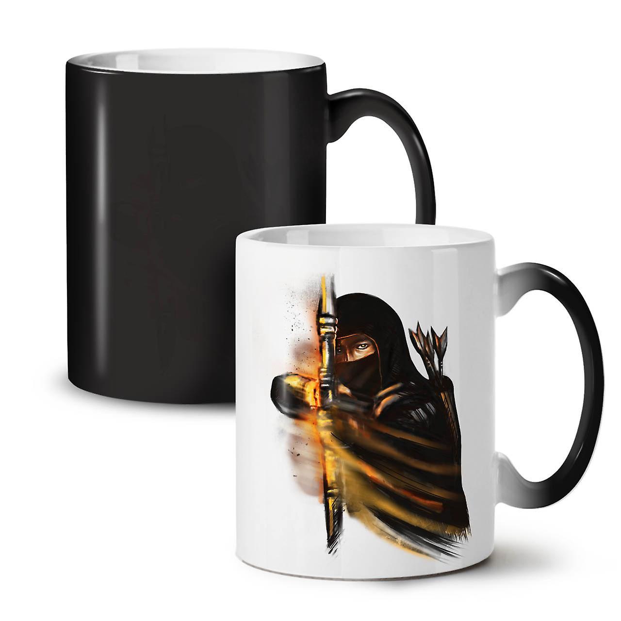 Tasse Ninja 11 Noir Nouvelle Céramique Café Warrior Fantastique Couleur Changeant OzWellcoda Thé WDH29eEIY