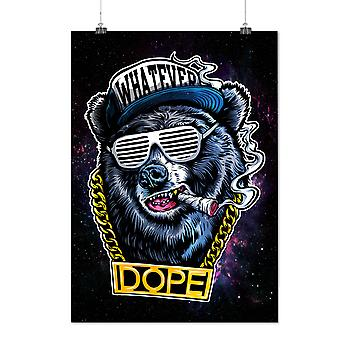 Matte or Glossy Poster with Chain Swag Bear Fashion | Wellcoda | *d2596