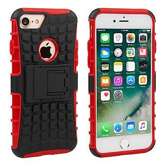 Caso combinado de Yousave Accesorios Iphone 7 pata de cabra - rojo