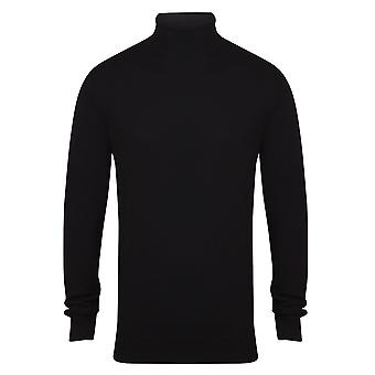 Henbury Mens Knitted Roll Neck Jumper