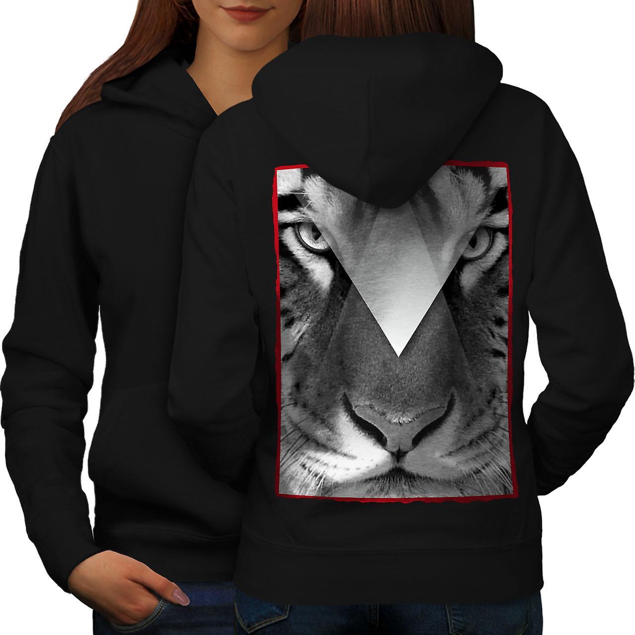 Tiger Eyes femmes noirHoodie dos
