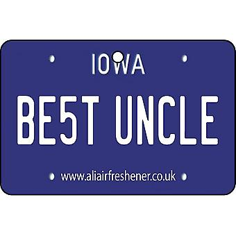 Iowa - Best Uncle License Plate Car Air Freshener