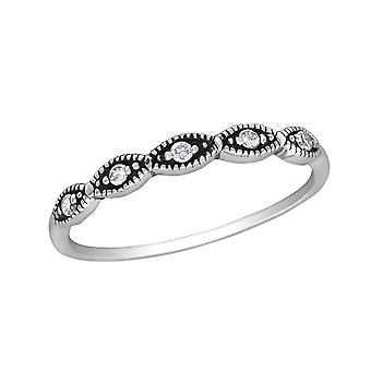 Stackable - 925 Sterling Silver Jewelled Rings