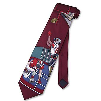 Papillon 100% SILK NeckTie Football Design Men's Neck Tie #124-2