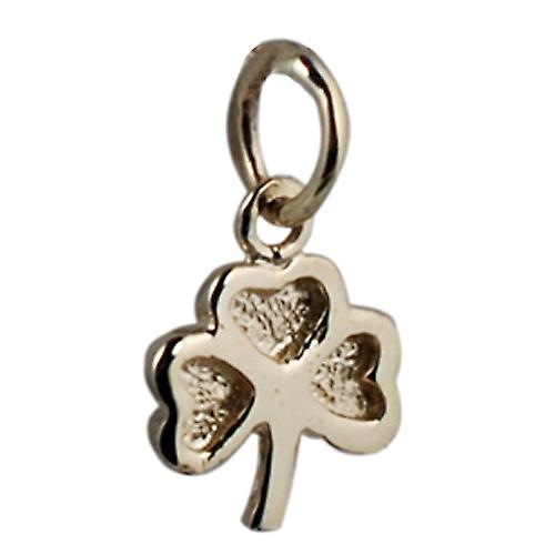 9ct Gold-9x9mm Klar Shamrock Charm