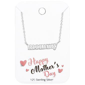 Carte de fête «» collier sur l'heureuse mère de maman - jeux d'argent Sterling 925 - W36094X