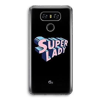 LG G6 Transparent Case - Super lady