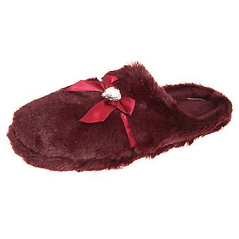 Forever Dreaming Womens/Ladies Faux Fur Memory Foam Slippers