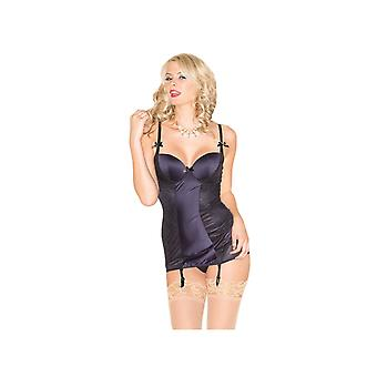 Be Wicked BW1534 Satin Gartered Chemise